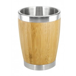 Vaso de bamboo y acero inoxidable 350cc Regalos Corporativos Chilepromo
