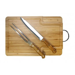 Set para barbecue | Set para asados | Tabla de picar, tenedor y cuchillo. Regalos corporativos ChilePromo.cl